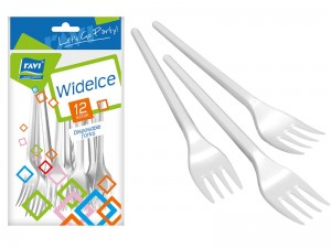 Disposable forks 12 items at Wasserman.eu