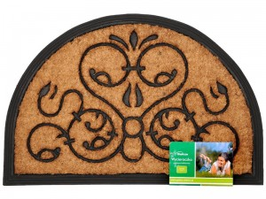 Doormat rubber coconut 60x40cm semi-circle Victor WZ4 at Wasserman.eu
