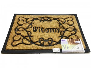 Coconut doormat with rubber 60x40cm Victor WZ8 4515 WZ8 at Wasserman.eu
