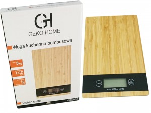 Electronic bamboo kitchen scale at Wasserman.eu