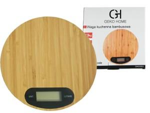 Electronic round bamboo kitchen scale at Wasserman.eu