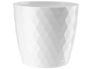 Flower pot Cristal 20cm, white at Wasserman.eu