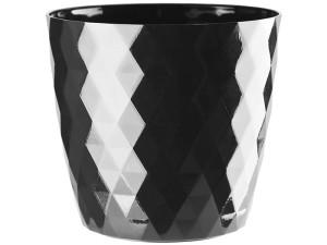 Flower pot Cristal 16cm, black at Wasserman.eu
