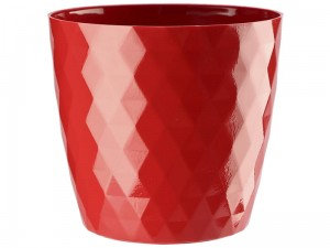 Flower pot Cristal 16cm, red at Wasserman.eu