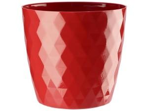 Flower pot Cristal 18cm, red at Wasserman.eu