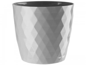Cristal flower pot 18cm, gray at Wasserman.eu