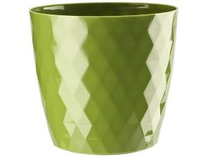 Flower pot Cristal 20cm, green at Wasserman.eu