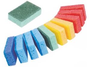 Dish washing sponges 10 pieces plus 1 for free at Wasserman.eu