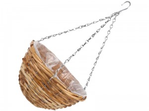 Hanging flower basket with foil and chains 30x15cm at Wasserman.eu