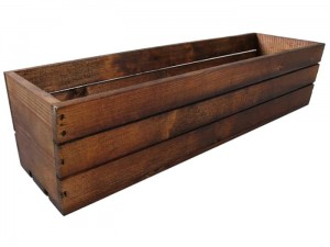 Brown wooden box 60x18x15 at Wasserman.eu