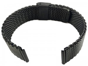 Mesh Band 10 20mm black bracelet at Wasserman.eu