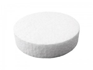 Styrofoam end cap 67mm white 100pcs at Wasserman.eu