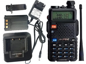 DualBand Baofeng UV-5R HT Pro 1-8W radio at Wasserman.eu