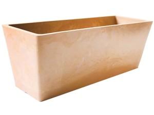 Beige rectangular frost-resistant flowerpot at Wasserman.eu