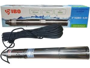 """SQIBO 0.55 submersible pump diameter 75mm 3 """" at Wasserman.eu"""