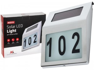 Solar lamp with the Maclean LED house number at Wasserman.eu