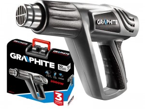 Heat gun Graphite 2000W from 25 to 550st. C with a case at Wasserman.eu