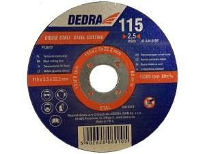 Dedra 115x22,2x2,5mm steel cutting disc at Wasserman.eu