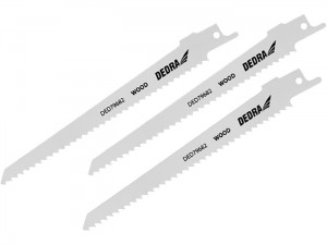 Dedra SAS + ALL wood saw blade 3 pieces at Wasserman.eu