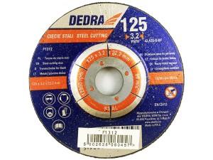 Cutting disc for 125x22.2x3.2mm steel Dedra F1312 at Wasserman.eu