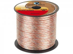 2x2mm copper speaker cable OFC at Wasserman.eu
