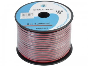 2x1mm CCA speaker cable per meter at Wasserman.eu