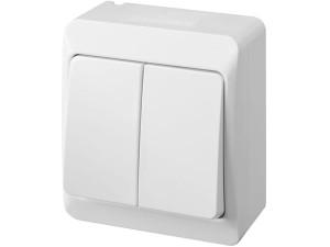 Łącznik podwójny na tynk Hermes 0332-02 biały w sklepie Wasserman.eu