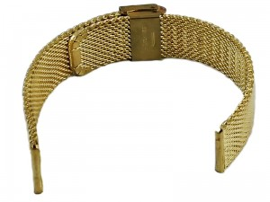 Mesh Band 8 18mm gold bracelet at Wasserman.eu