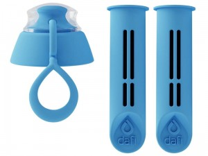 Two filters for the DAFI filter bottle heavenly color at Wasserman.eu