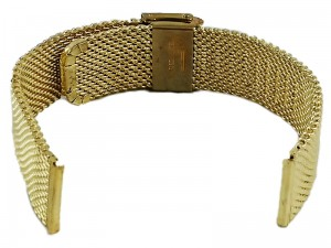 Mesh Band 8 20mm gold bracelet at Wasserman.eu
