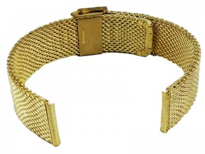 Mesh Band 8 22mm gold bracelet at Wasserman.eu