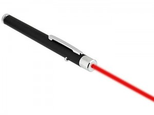 Red laser pointer at Wasserman.eu