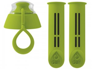 Two filters for the DAFI filter bottle, lime color at Wasserman.eu