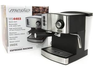 Ekspres ciśnieniowy do kawy Mesko +spieniacz mleka MS 4403 w sklepie Wasserman.eu