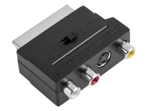 Euro scart adapter 3x RCA 1x SVHS switch ZLA0352 at Wasserman.eu