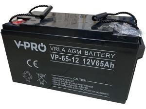 Akumulator żelowy AGM VPRO 12V 65Ah bezobsługowy w sklepie Wasserman.eu