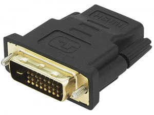 Adapter DVI plug to HDMI socket at Wasserman.eu
