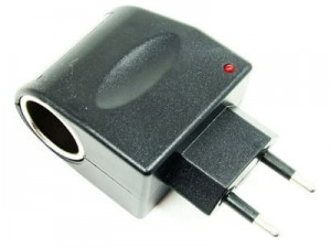 Cigarette lighter socket with 230V / 12V voltage adapter at Wasserman.eu