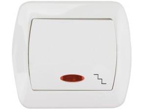 Łącznik schodowy Kontakt Simon AW6L biały podświetlany w sklepie Wasserman.eu