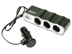 Rozdzielacz zapalniczki x3 + ładowarka USB K517 w sklepie Wasserman.eu