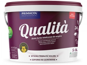Latex interior paint Qualita 5L white at Wasserman.eu