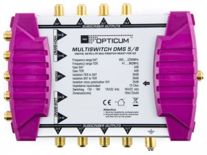 Multiswitch Opticum OMS 5/8 P Golden Line  + zasilacz w sklepie Wasserman.eu