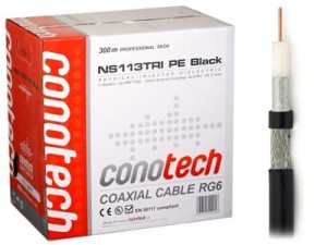 CONOTECH NS-113 Trishield PE black cable by the meter at Wasserman.eu