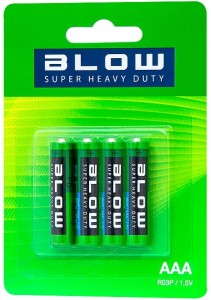 4x Blow Super Heavy Duty AAA R03P battery (82-503) at Wasserman.eu