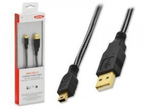USB ednet cable type USB A / miniUSB B (5 pins) 3m at Wasserman.eu