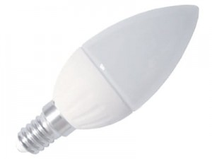 LED bulb E14 candle 3W 240lm warm 165704 at Wasserman.eu