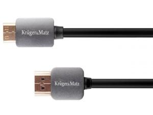 HDMI cable - mini HDMI plug-to-plug (A-C) 1.8m Kruger & Matz at Wasserman.eu