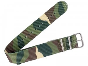 Fabric strap 22mm camo at Wasserman.eu