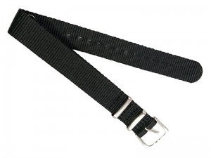 Watch strap 16mm black at Wasserman.eu