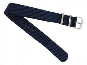 18mm dark blue fabric strap at Wasserman.eu